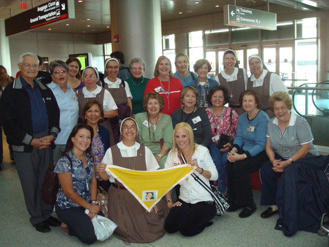 Pilgrims at the Airport